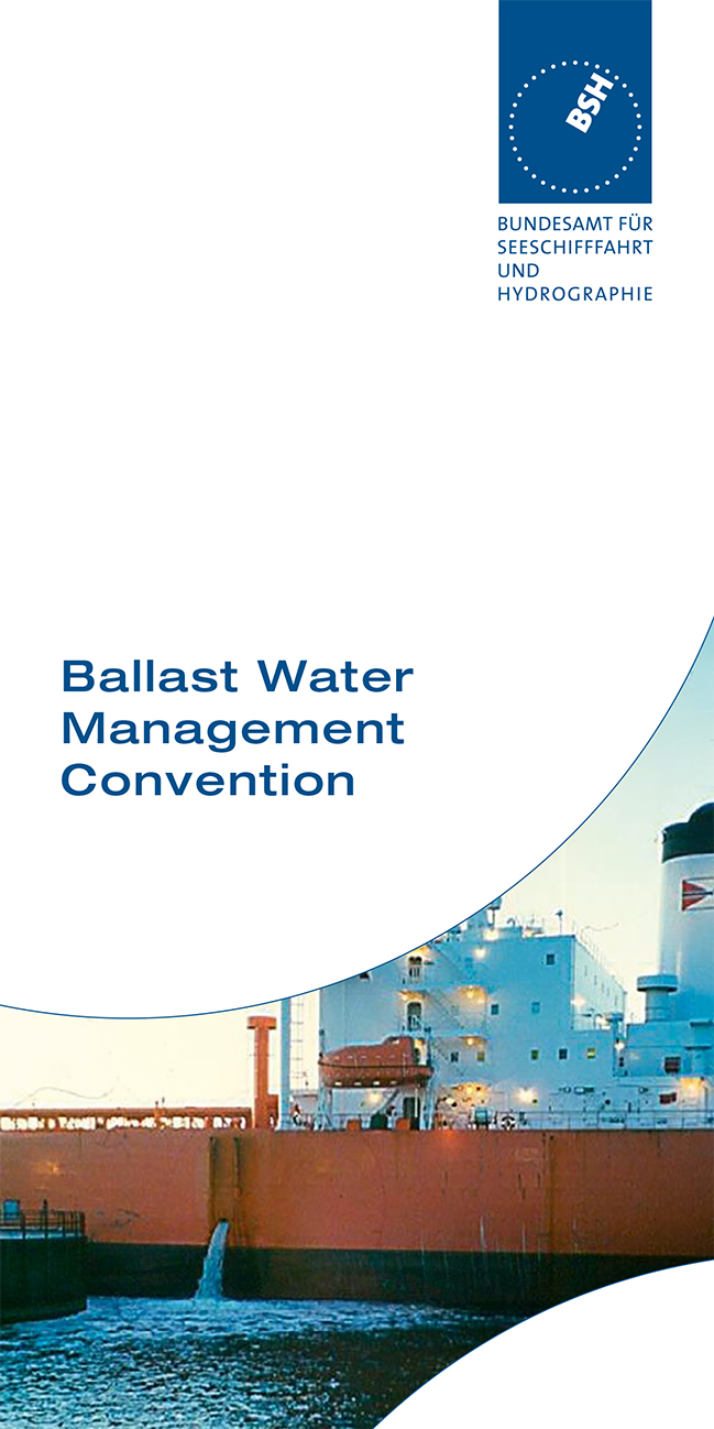 Titelbild des Flyers Ballast Water Management Convention