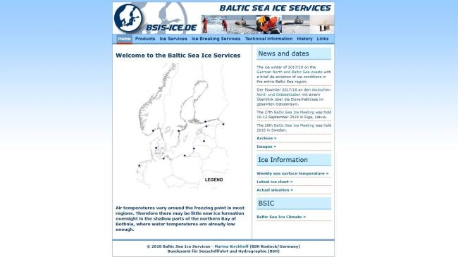Baltic Sea Ice Services website