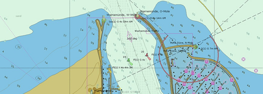 Detail of an ENC - Electronic Navigational Chart