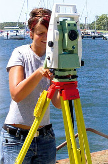 Training to become a geomatics technician