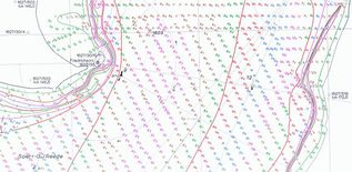 Topographic map of the sea floor - Section of Kiel-Friedrichsort
