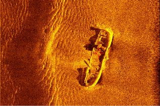 Side scan sonar image