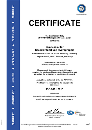 Certificate ISO 9001 - english