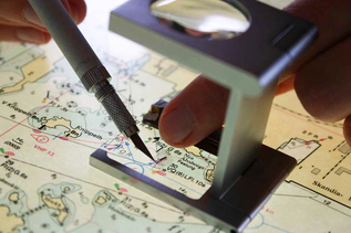 Manual correction of a nautical chart